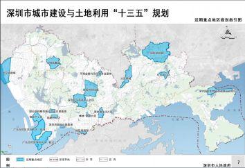 近期重点地区规划指引图